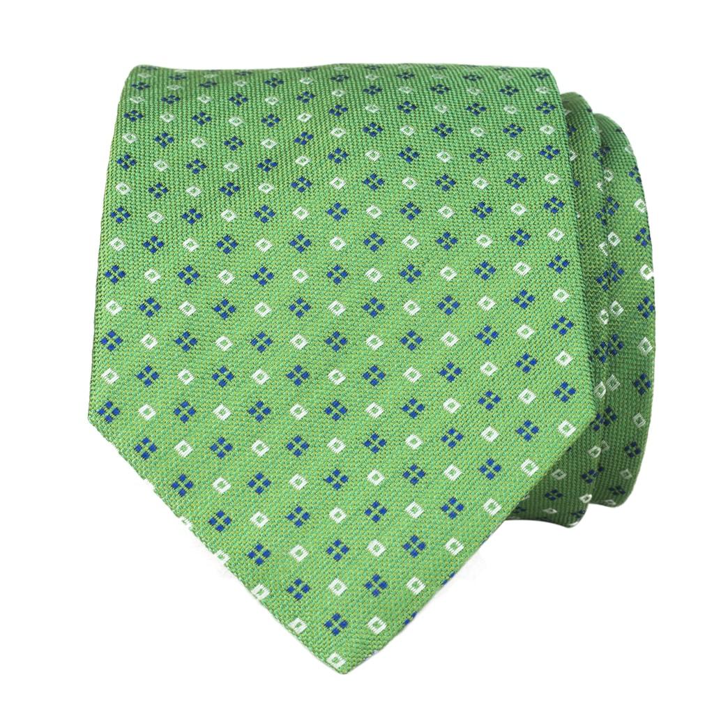 Zelená kravata s kvítky a tečkami John   Paul - John   Paul ... 4762b50460