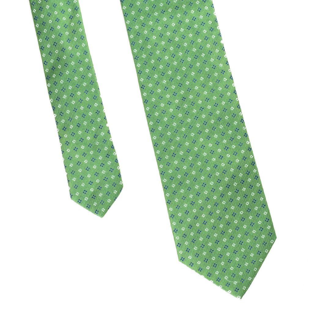 Zelená kravata s kvítky a tečkami John   Paul - John   Paul ... d26d3c4b27